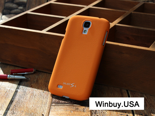 New SGP anti slip Rock Dull Polish Skin Hard Back Case Cover for Samsung Galaxy S4 SIV i9500-Orange