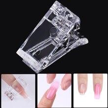 5pcs/set Nail Tips Clip Quick Building False Finger Clear Extension Maincure Art Builder Tool Polymer Gel UV Gel Mold Dual Forms