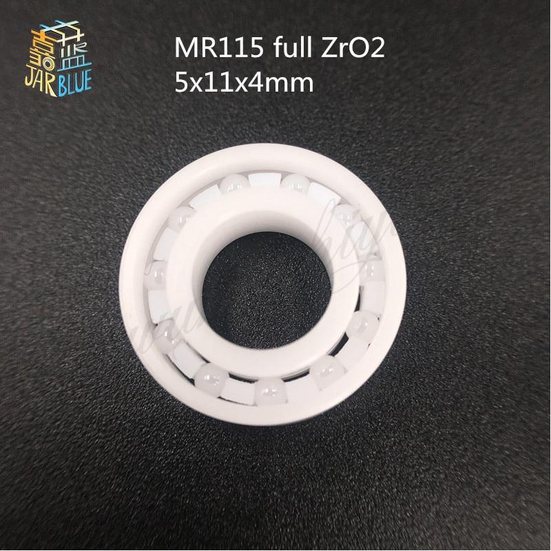 Free shipping high quality MR115 full ZrO2 ceramic deep groove ball bearing 5x11x4mm 627 full zro2 ceramic deep groove ball bearing 7x22x7mm good quality