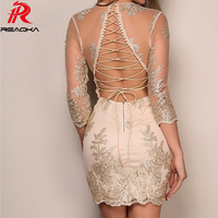 Sexy Hot summer dress women sequins Bling Queen Party dress befree Gold Line bandage Mesh V neck Nightclub Dresses 2018 vestido
