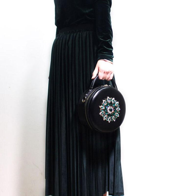 BENVICHED женская сумка из натуральной кожи крупного рогатого скота 2019 Новая Бриллиантовая модная сумка на плечо ретро мини сумка c389 - 3