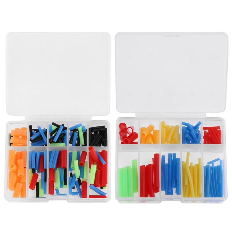 200pcs/box Fishing Hook Sleeve Tube Hair Rig Aligner Sleeves Soft Positioner Terminal Tackle Carp Fishing Accessories