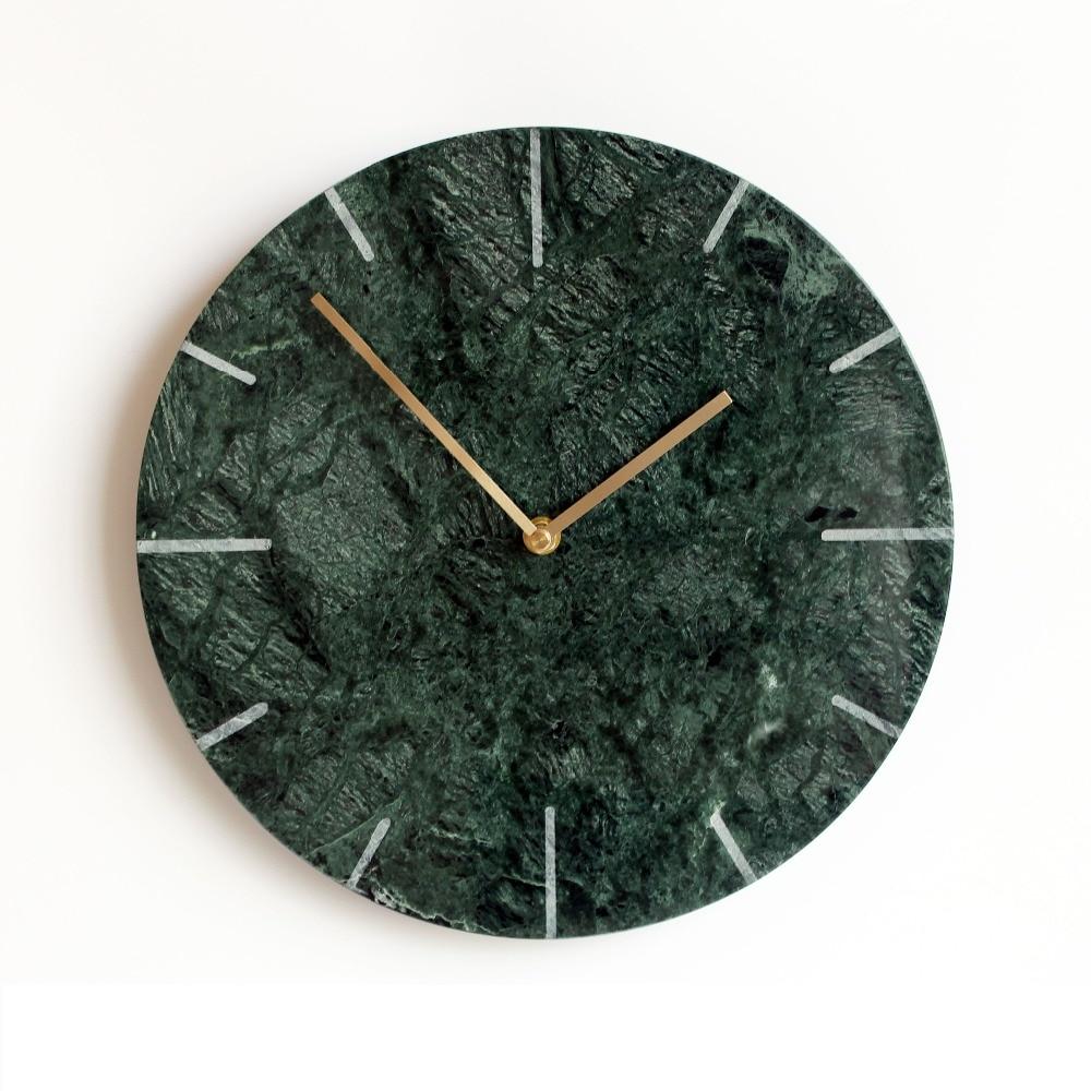 12 Inch Nordic Marble Wall Clock Silent Non Ticking Quartz