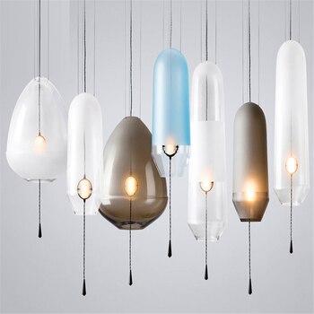 American Glass Ball Pendant Lights Iron Hoop Pendant Lamps Hang Lamp Bedroom Cafe Restaurant Bar Indoor Lighting Fixtures Decor