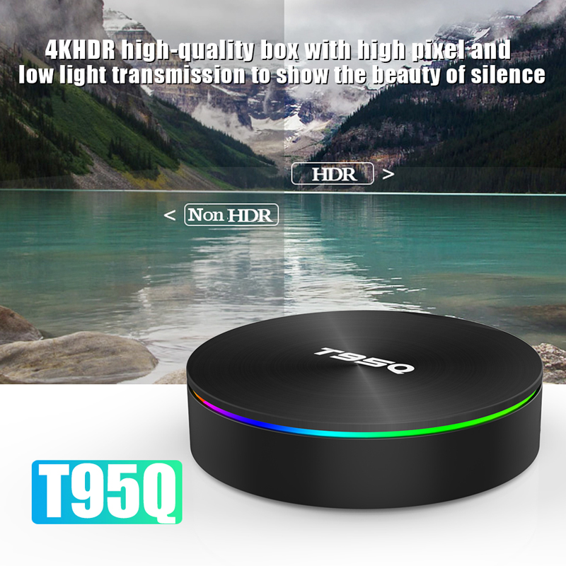 Amlogic S905X2 Quad Core T95Q 4GB 64GB Android 8.1 TV BOX LPDDR4 2.4G+5GHz Wifi BT4.1 1000M H.265 4K 4G+32G Media Player-in Set-top Boxes from Consumer Electronics