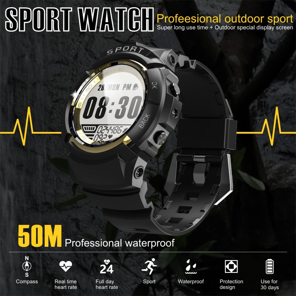 Pedometer Sport-Watch Diving-Wristwatc Fitness Waterproof Running Heart-Rate Android