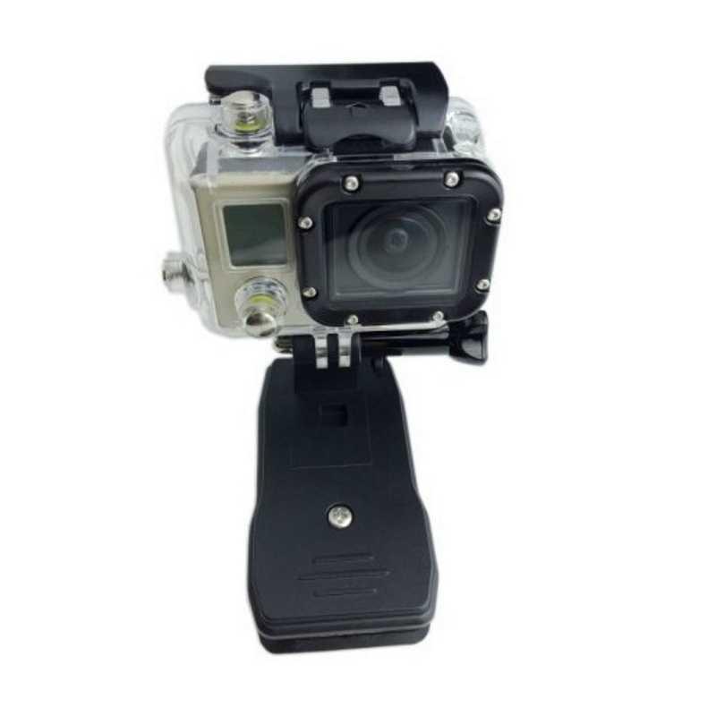 360 Derajat Rotary Ransel Topi Klip Clamp Mount untuk Go Pro Hero 5 3 4 Sesi SJCAM SJ4000 untuk Xiaomi Yi 4K Go Pro Aksesori