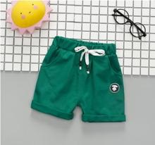 купить Elastic Waist Boys Shorts 2019 Summer Kids Clothes New Children's Pants Baby Shorts for 0-5 Years Old Toddler Pants SY-F182102 по цене 316.54 рублей