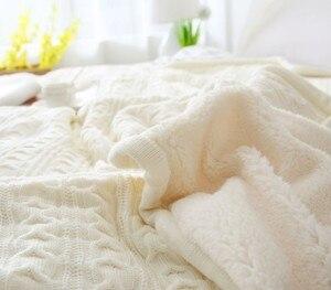 Image 2 - CAMMITEVER 180*120cm Soft Blankets for Beds Cotton Blanket Bedspread Bedding Knitting Patterns Blanket Comfy Sleeping Bed