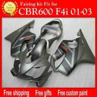 Injection molding fairings for HONDA CBR 600 F4i matte grey black fairing 01 02 03 CBR600 F4i 2001 2002 2003 free customize H52