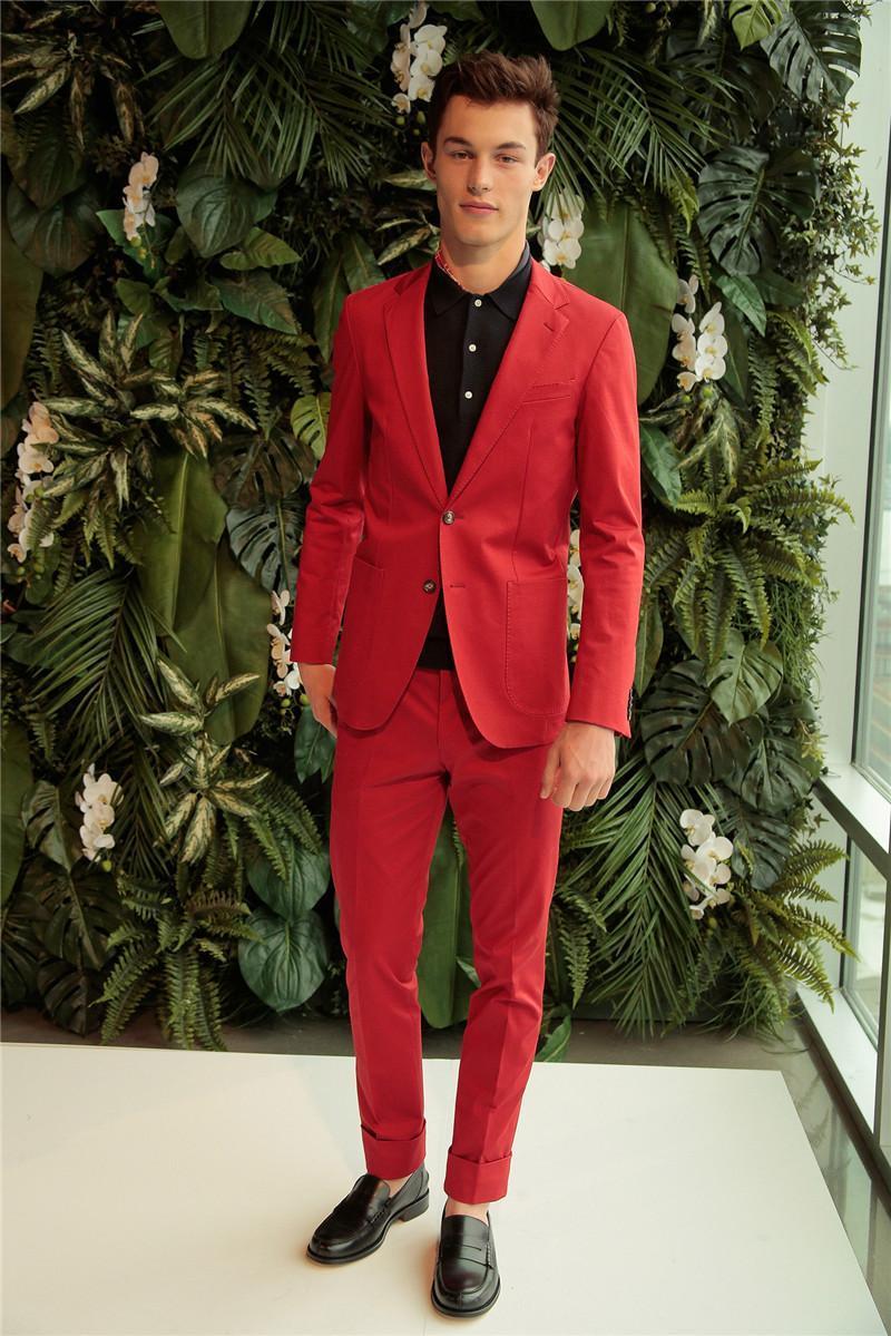 Popular Slim Fit Red Tuxedo-Buy Cheap Slim Fit Red Tuxedo lots ...