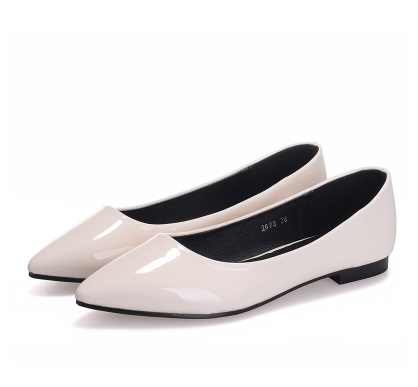 55e39e2425 ... Women's printed Flock shoes breathable Spring slip ons Pointed toe No  heels black Wine Red Loafers ...