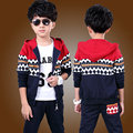 New spring autumn outwear children 2 pcs suit boys clothing set fashion coat+pants baby set kids sport suit 4-8Y