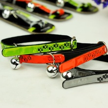 New Puppy Pet Dog Collar Cat Neck Strap Necklace with TPU Material and Soft Cotton Paw Patten Bell for Dogs Cats