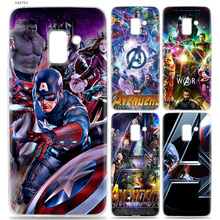Marvel Superheroes The Avengers Soft Case For Samsung Galaxy A6 A8 J4 J6 S8 S9 Plus + A7 A9 J8 2018 S7 Edge Note 9 8 Cover