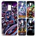 "Yaetee Marvel Супергерои из ""Мстителей"" чехол для Samsung Galaxy J6 S9 S8 J8 J4 A6 A8 плюс J2 J3 J5 S7 S6 Edge 2018 2017 примечание 9 8 - фото"