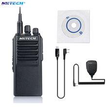 Профессиональные NKTECH U-25W UHF 400-480 МГц 25 Вт Двухстороннее Радио Трансивер Walkie Talkie С 4000 мАч 1X ПК Микрофон ПК Кабель
