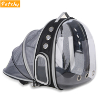 Petshy Pet Cat Backpack Small Dog Carrying Cage Outdoor Travel Comfortable Breathable Puppy Kitten Extensible Carrier Backbag
