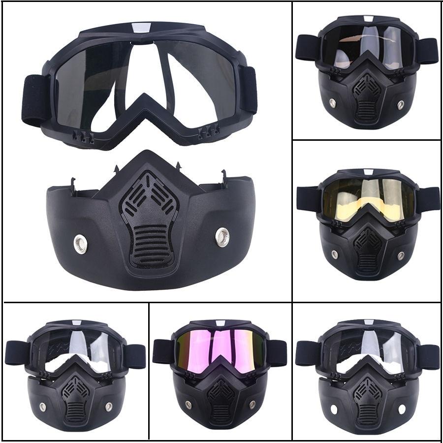 Livraison gratuite 1 pièces moto Motocross ATV Dirt Anti-UV poussière vélo hors route course moto lunettes lunettes