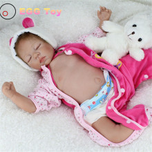 22inch Full body Silicone Reborn Baby Dolls 58cm Lifelike Baby Doll Sleeping Play House Toy Gift Girls full body reborn