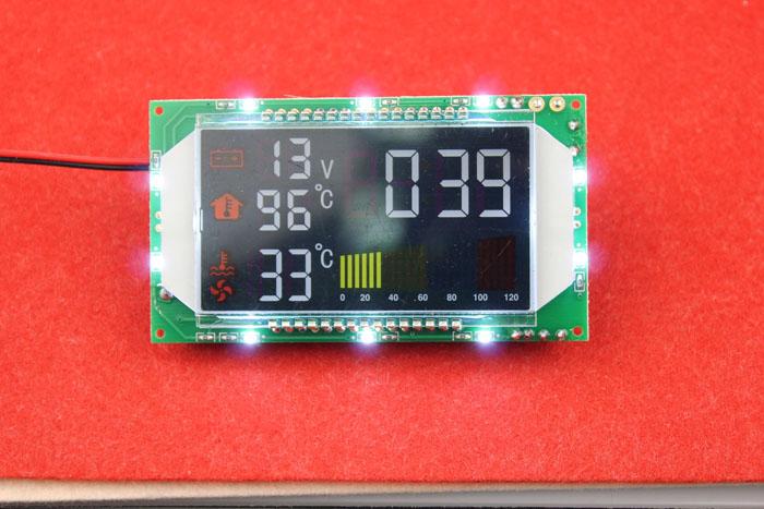 Dual temperature display module temperature module automobile thermometer with voltage watchband time DIY module dual temperature display module temperature module automobile thermometer with voltage watchband time diy module
