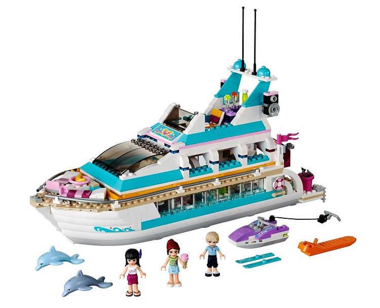 Caliente de 618 psc Bela 10172 amigos ninas grande de delfines crucero buques de cruceros modelo de construcción juguetes de bloques