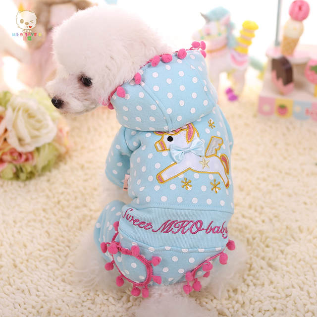 Online Shop Kawaii Pet Shop Embroidery Unicorn Dog Jumpsuits Rompers