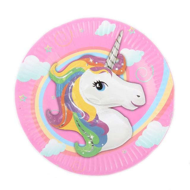 10pcs/lot 7inch Unicorn Theme Cartoon Paper Plates Kids Baby Shower Happy Birthday For Boy  sc 1 st  AliExpress.com & 10pcs/lot 7inch Unicorn Theme Cartoon Paper Plates Kids Baby Shower ...