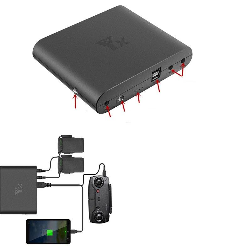 Chargeur de puissance Portable Drone batterie/télécommande chargeur de banque USB chargeur pour accessoires de Drone d'air DJI Mavic