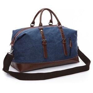 Image 2 - Scione בד עור גברים לשאת על מזוודות תיק גברים תרמיל שקיות נסיעות Tote גדול בסוף השבוע תיק לילה זכר תיק