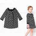 2017 Long-sleeved kids wear fashion baby girl polka dot dress girls lolita style baby clothing child dresses summer clothes