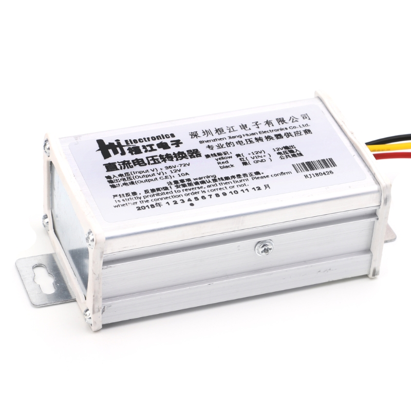 New Style DC 36V 48V <font><b>72V</b></font> To 12V 10A 120W Converter <font><b>Adapter</b></font> Transformer For E-bike Electric High Quality image