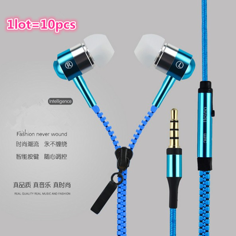 1lot=10pcs Hot Sale 3.5mm Zip Earphones Headphone Headsets Super Bass Stereo Earbuds for android IOS Mobile phone MP3 MP4 9color natural hot sale geranium robertianum extract 10 1 400g lot