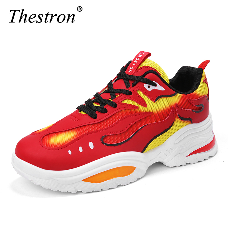 THESTRON Height Increasing 5CM Men Running Shoes Red Black Sneakers Outdoor Sport Shoes Athletic High Heel Cushioning FootwearTHESTRON Height Increasing 5CM Men Running Shoes Red Black Sneakers Outdoor Sport Shoes Athletic High Heel Cushioning Footwear