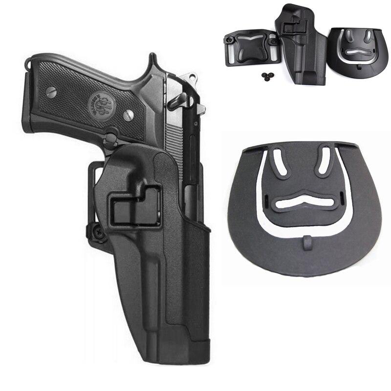 Militar Cinto Coldre Beretta M9 92 96 Cintura Pistola Coldre de Arma Carry Tactical Caça Airsoft Arma Coldre Esquerda/Direita mão