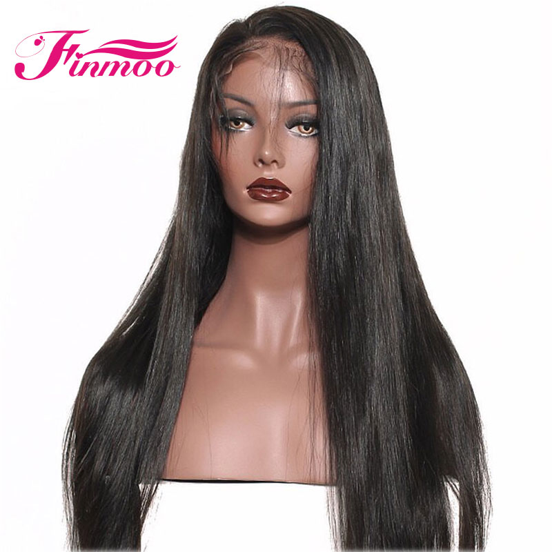 4 4 Silk Base Lace Front Human Hair Wigs For Black Women With Baby Hair Indian