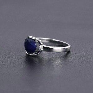 Image 5 - GEMS בלט טבעי כחול ספיר חן טבעת תכשיטי עגילי סט לנשים 925 סטרלינג כסף Gorgeou אירוסין תכשיטים