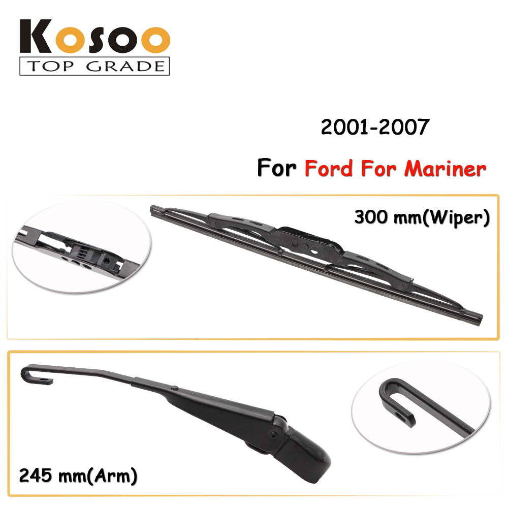 Kosoo auto rear car wiper blade for ford for mariner 300mm 2001 2007 rear
