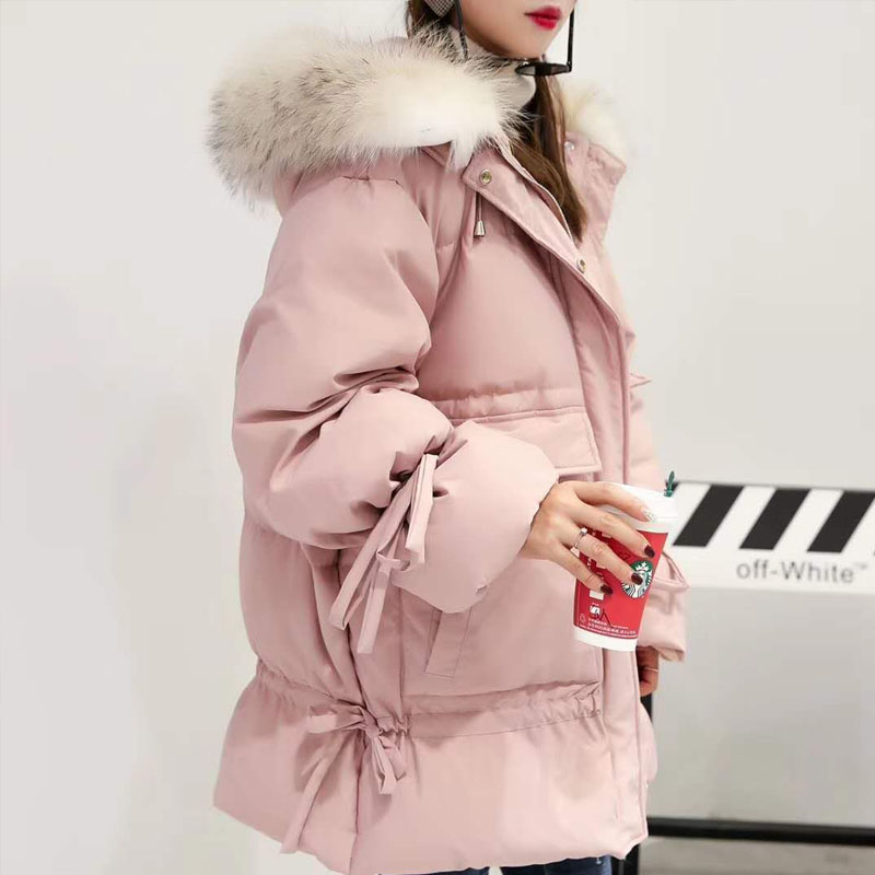 Winter Jacket Women 2018 New Fashion Duck   Down     Coat   Female Winter Parka Big Real Raccoon Fur Hooded Women's Parkas   Down     Coats