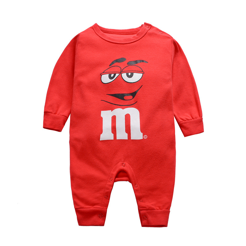 Newborn Baby Clothes   Rompers   Summer Cartoon 100% Cotton Long Sleeve Unisex Clothing Roupa Infantil Baby   Rompers   For Boys Girls
