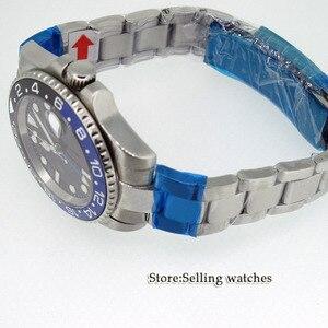 Image 4 - 40mm PARNIS Black dial GMT Sapphire Date อัตโนมัตินาฬิกานาฬิกาผู้ชาย