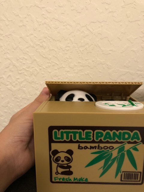 Cute Panda Thief Money Automatic Stealing Coin Money Storage Box Piggy Bank