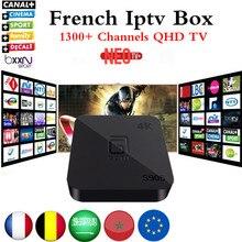 Meilleur Quad Core Android TV Box avec 1 Année 1300 + Arabe Français Belgique code Vivent TV et VOD IPTV XBMC préchargé livraison smart iptv boîte