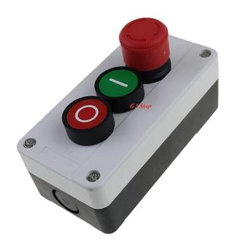 цена на NC Emergency Stop NO Red Green Push Button Switch Station 600V 10A