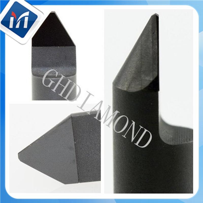 2 pièces diamant gravure bits pierre gravure cutter sculpture outils PCD fraisage outils 6mm pour marbre granit lettrage embosser