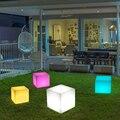 Nordic Nacht Licht Wiederaufladbare Led Beleuchtet Möbel Fernbedienung Outdoor Cube Stuhl Bar KTV Pub Kunststoff Tische Beleuchtung-in Nachtlichter aus Licht & Beleuchtung bei