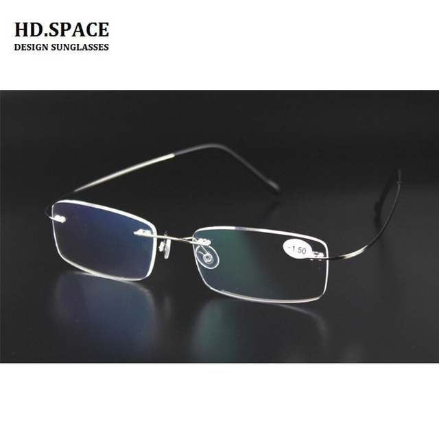 1d5cb1e6947 HD.space New fashion finished rimless myopia glasses ultra-light frameless  Nearsighted Glasses Myopia glasses -1.00 to -6.00