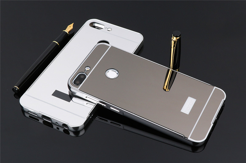 Huawei Honor 9 Lite 9Lite Case Plating Metal Frame Cover with Mirror Back Cover Hard Case for Huawei Honor9 Lite LLD L31 LLD L22 in Fitted Cases from Cellphones Telecommunications
