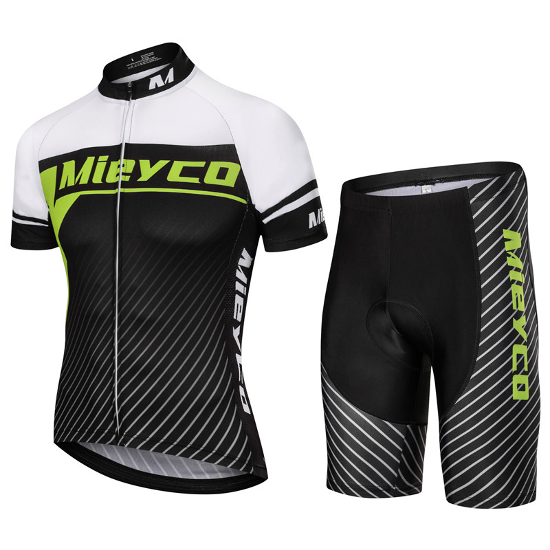 Mieyco Men's Summer Cycling Jersey Breathable Mountain Bike Clothing Quick-Dry Racing MTB Bicycle Clothes Uniform Cycling Sets