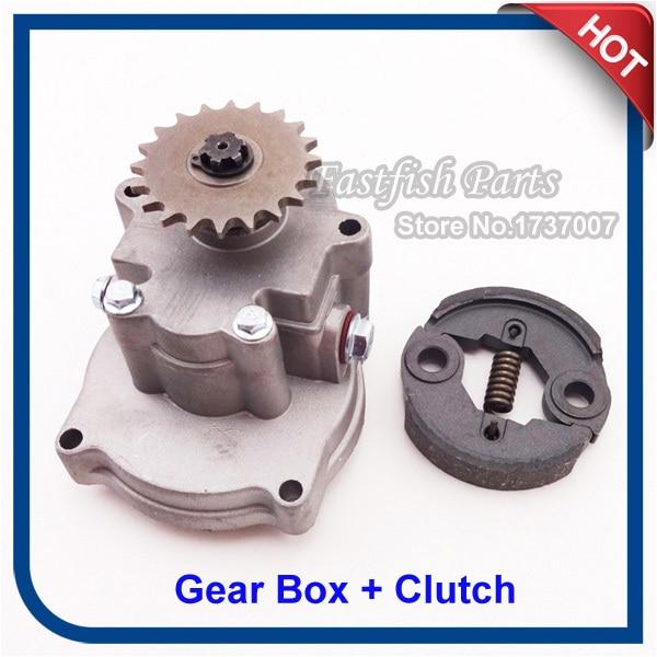 Gear Box & Steel Clutch For 43cc 49cc Ty Rod II Go Kart Pocket Bike G Scooter XTreme 52cc